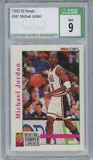 1992-93 Hoops Michael Jordan USA #341 CSG 9 MINT
