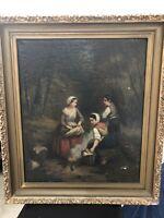 19th Century European School Oil On Canvas Painting