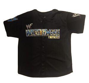 WWF WWE Wrestlemania 17 X-7 Large Jersey WWE Rock Stone Cold Steve Austin TLC