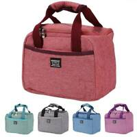 Adult Kids Thermal Insulated Lunch Bag Cool Bag Picnic Lunch Box Food Storage