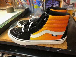 Vans Sk8-Hi Pro Fade Black Orange Size US 11 Men's New Rare Extra Laces