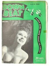 Vintage April 8, 1946 DOWN BEAT Vol. 13 No. 8 (Ginnie Powell) Music MAGAZINE
