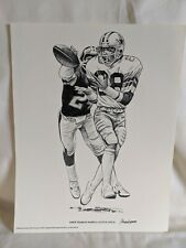 Drew Pearson  NFL 1981 Shell Oil  Print