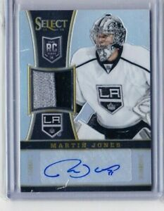 2013-14 SELECT MARTIN JONES ROOKIE AUTO REFRACTOR PATCH 10/50 #329 KINGS PD
