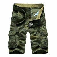 Cargo Shorts For Men Camouflage Casual Cotton Knee Length Loose Military Clothes