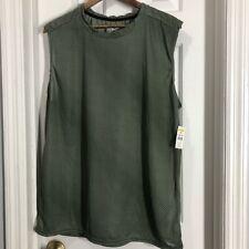 Zone pro green stripe sheer muscle tank top shirt L