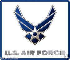 US AIR FORCE HELMET STICKER BUMPER STICKER TOOLBOX STICKER SQUARE