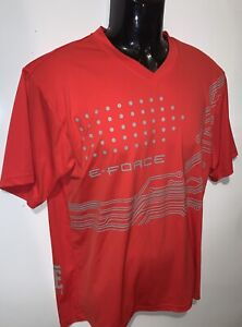 Orange E-FORCE Performance Racquetball Shirt ~ Sz L ~ Eforce  E Force Racketball