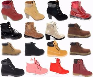 Women's All-Weather Lace Up Padded Ankle Collar Work Ankle Boot Shoes sz 5-10