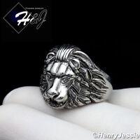 MEN Stainless Steel Silver//Gold Lion Head Eagle Greek Key Design Round Ring*R83
