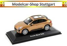 2015 PORSCHE MACAN TURBO Aurum métallique - WELLY 1:43 - MAP01995215 - Neuf