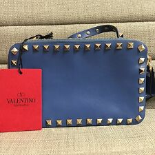 BNWT Auth Valentino Garavani 'Rockstud' Crossbody Bag Blue (includes Dust Bag)