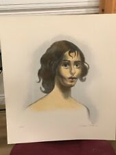 """Issac Soyer – """"Young Girl"""" Lithograph  – 10/150"""