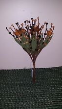 "Black & Mustard Pip Berry Bunch Picks - Stems, Leaves, 1.5"" Rusty Stars, 10 inch"