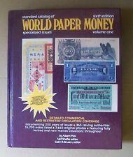 Standard Catalog of WORLD PAPER MONEY Volume One Sixth Edition