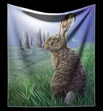 Kuscheldecke Wicca Hase - Solstice von Lisa Parker - Fantasy weiche Wohndecke