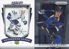 Alexander Steen 2006-07 Upper Deck MVP Silver Script & 2013-14 Prizm 2-Card Lot