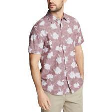 Nautica Blue Para Hombre Tejido Impreso camisa abotonada Classic Fit BHFO 6928