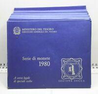 REPUBBLICA ITALIANA  SERIE DIVISIONALE ANNO 1980 CON 500 LIRE ARGENTO CARAVELLE