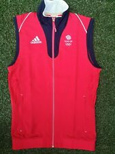 BNWOT ~ ADIDAS LONDON 2012 OLYMPICS TEAM GB ATHLETE ISSUE GILET TOP ~ SMALL 36""