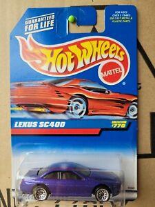 HOT WHEELS 1997 - LEXUS SC400 [PURPLE] LACE WHEELS VARIATION NEAR MINT VHTF