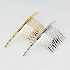 Perfeclan Gold French Decorative Side Comb Women Hair Clip Slide Accessories
