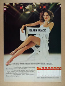 1976 Karen Black photo Hanes Alive Pantyhose vintage print Ad