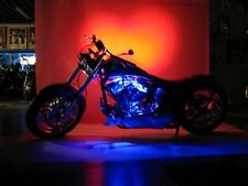 6 Pc Blue Neon Flexible LED Motorcycle Lighting Kit with Remote Control & EFX!