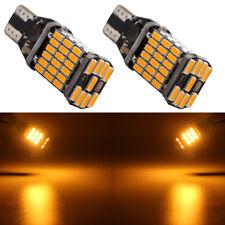 2x Amber 12V 24V T15 W16W 4014 45SMD Canbus Error Free Led Backup Reverse Light