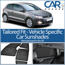VW Polo 3dr 2009+ UV CAR SHADES WINDOW BLINDS PRIVACY GLASS TINT BLACK BLIND
