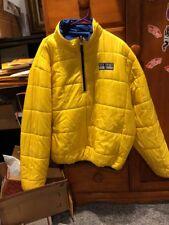 Vintage Polo Sport Ralph Lauren Reversible Puffer Jacket XXL Yellow Blue