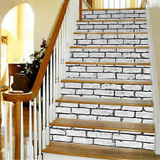 3D Brick Stair Sticker Removable DIY Peel & Stick Stairs Decor Wall Decals Gift