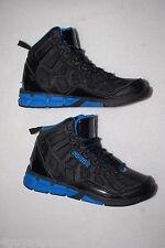 Boys Athletic Shoes BLACK BLUE AND1 PHANTOM High Top BASKETBALL Non Marking SZ 5