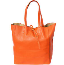 Shopping Bag Italian Genuine Leather Hand made in Italy Florence 9121