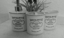 Badezimmerset water house dispensador jabonera zahnputzbecher Clayre & eef