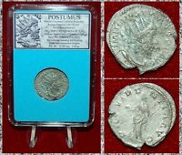 Ancient Roman Empire Coin POSTUMUS Providentia On Reverse Silvered Antoninianus