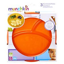 Munchkin 3 Multi Divided Baby Plates