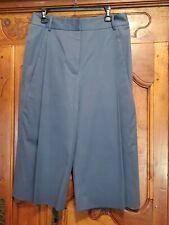 TSE Women's DEEP FLARE POCKET CapriPants size 12 Wide Leg HEATHER BLUE GREY