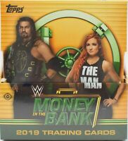 2019 Topps WWE Money In The Bank Hobby Master Box Sealed 4 HITS Wrestling