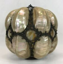 New listing Antique Victorian Mother Of Pearl Nautilus Shells Seashells Lamp Shade