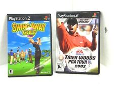 PLAY STATION 2 VIDEO GAMES LOT OF 2 SWING AWAY GOLF+T. WOODS TOUR 2002       V8