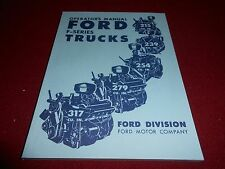 1952 FORD F-SERIES TRUCK OWNER OPERATOR'S MANUAL 52 PICKUP, PANEL, BIG RIGS Etc.