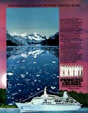 1984 Princess Cruises Last Frontier Alaska Glacier Travel Vintage Print Ad 992