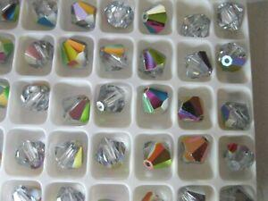 36 Preciosa Bicone crystal beads in 8mm Vitrail medium.