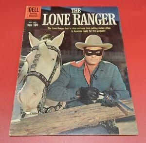 The Lone Ranger #136 photo cover DELL comic book * Fine- 5.5 (1960)