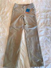 Women's Columbia Silver Ridge Stretch Convertible Pant 12 Khaki Beige Zip Legs