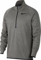 Men's Dark Grey Nike Quarter-Zip Therma Top (Small)
