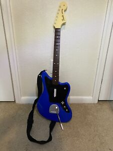 Rock Band 4 Wireless Fender Jaguar Xbox One Blue Guitar Controller Tested & Work