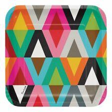 "French Bull Viva Design Jackie Shapiro Art Theme Party 10"" Square Banquet Plates"