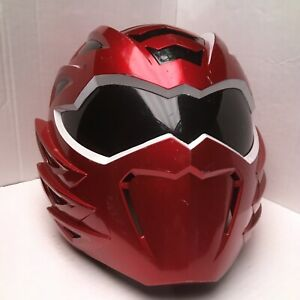 POWER RANGERS Jungle Fury Mega Mission Red Ranger Helmet Lights & Sound WORKS!